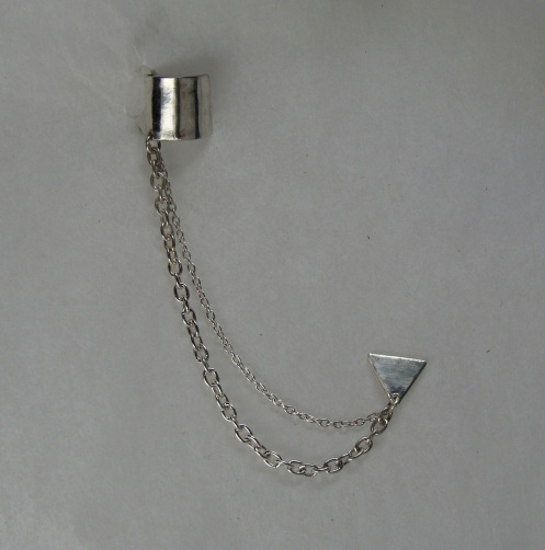 cuff and chain earring